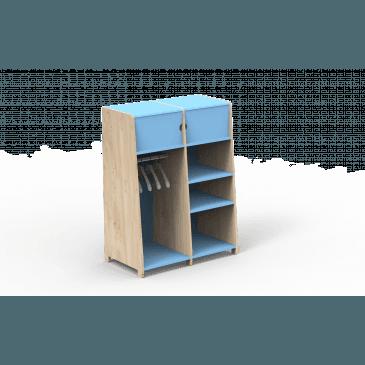 Penderie Évolutive Double Bois Montessori Finition:L.BU AZ