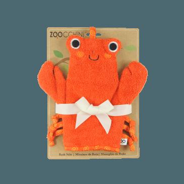 Gant de toilette marionnette Charlie le crabe | www.marelleetcaramel.com