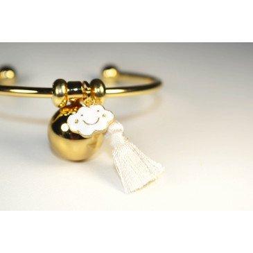 Bracelet Bola de grossesse or lisse - NELL