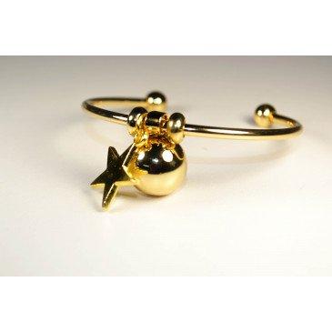 Bracelet Bola de grossesse or lisse - JADE
