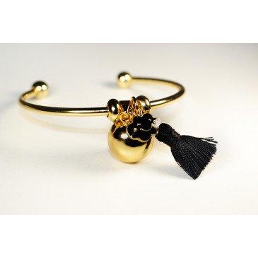 Bracelet Bola de grossesse or lisse - CASSIE