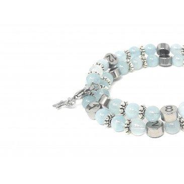 Bracelet d'allaitement pierre naturelle - Aigue Marine