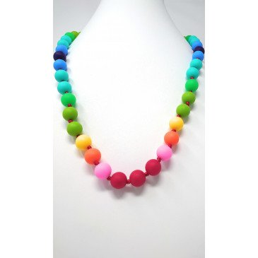Collier bijou de dentition et de portage - Multicolore