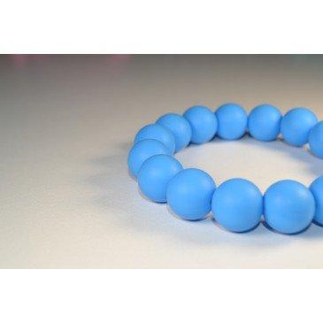 Bracelet bijou de dentition et de portage - Bleu