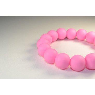 Bracelet bijou de dentition et de portage - Rose