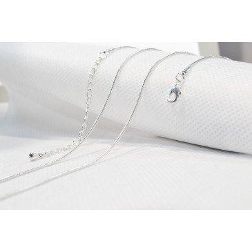 Chaine bola plaqué 114 cm - Maille Argent