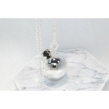 Bola de grossesse lisse pierre naturelle - Obsidienne