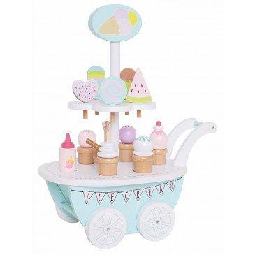 Chariot crèmes glacées bois | www.marelleetcaramel.com