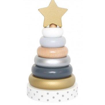 Jeu pyramide bois Silver | www.marelleetcaramel.com