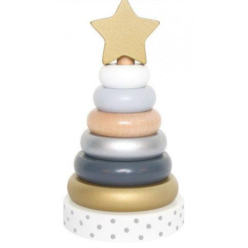 Jeu pyramide bois Silver   www.marelleetcaramel.com