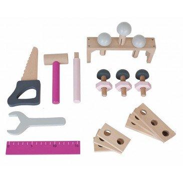 Boîte à outils rose | www.marelleetcaramel.com