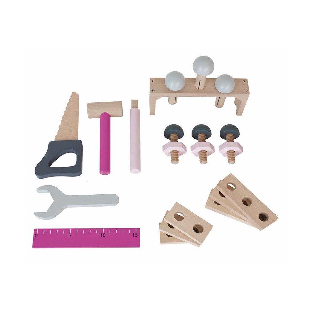 Boîte à outils rose   www.marelleetcaramel.com