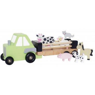 Camion remorque animaux bois | www.marelleetcaramel.com
