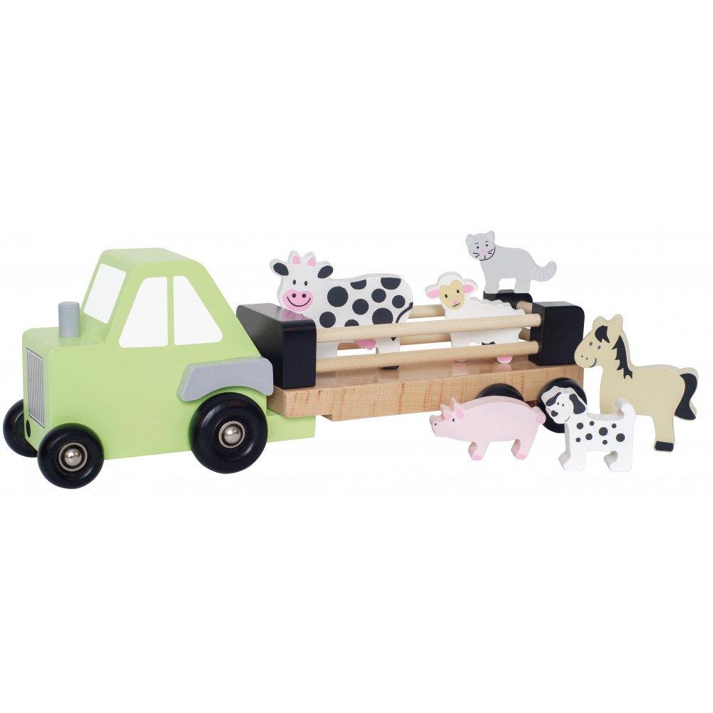Camion remorque animaux bois   www.marelleetcaramel.com