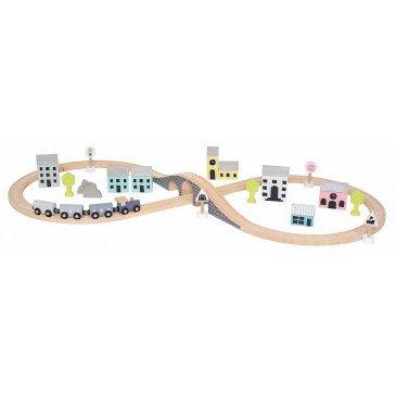 Coffret circuit train en bois | www.marelleetcaramel.com