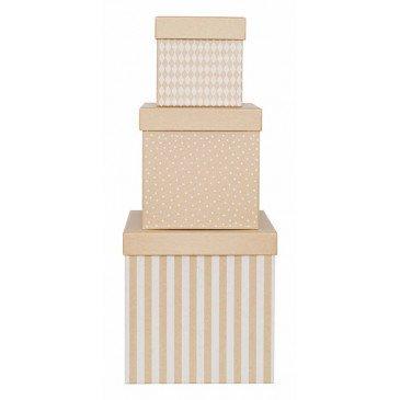 Set 3 boîtes cubes naturelles | www.marelleetcaramel.com