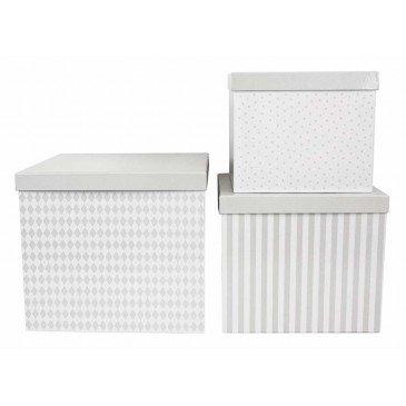 Set 3 boîtes cubes grises | www.marelleetcaramel.com
