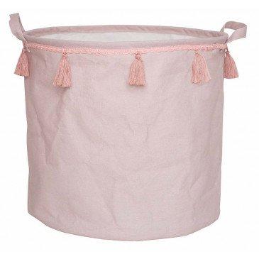 Panier à jouet rose | www.marelleetcaramel.com