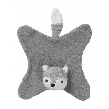 Doudou Anika renard gris en Coton Biologique | www.marelleetcaramel.com