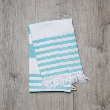 Serviette Bleu océan | www.marelleetcaramel.com
